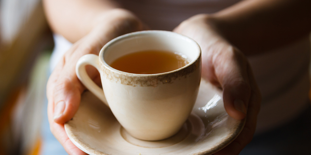Why drink hot tea when it's hot?